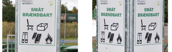 Skilte til genbrugspladsen