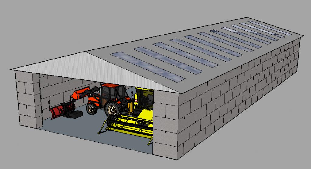 Modulo block til opgørelse af bygninger og lagerhaller hurtigt og prisrigtigt.
