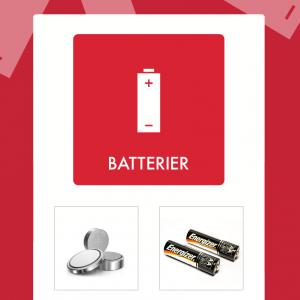 Batterier affaldsskilt