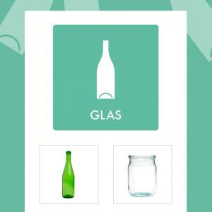 Glas affaldsskilt