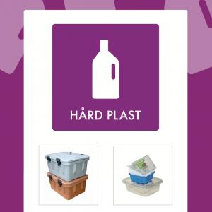 Hård plast affaldsskilt for affaldssortering