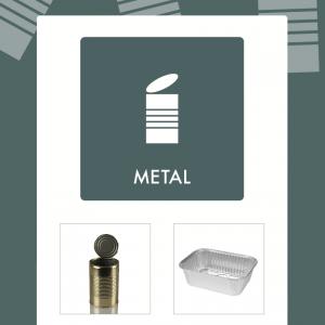 Metal affaldsskilt