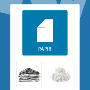 Papir affaldsskilt