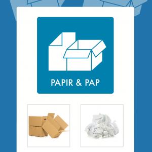 Papir og pap affaldsskilt