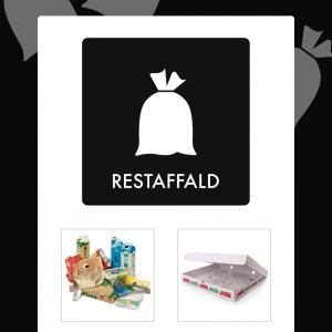 Restaffald affaldsskilt