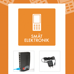 Småt elektronik affaldsskilt
