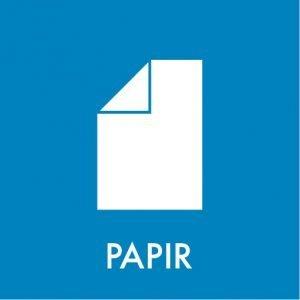 Papir klistermærke affaldssortering