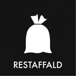 Restaffald klistermærke
