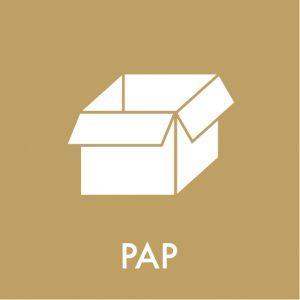 Pap klistermærke affaldssortering