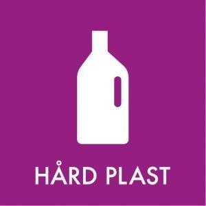 Hård plast klistermærke til sortering af affald