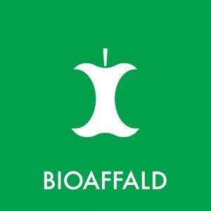 Bioaffald klistermærke til sortering af affald
