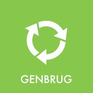 Genbrug klistermærke