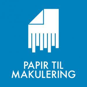 Papir til makulering klistermærke til sortering af affald