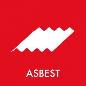 Klistermærke til affaldssortering af asbest