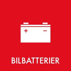 Bilbatterier klistermærke til sortering af affald