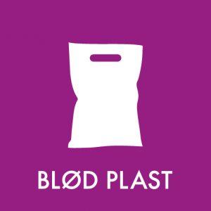 Blød plast klistermærke til affaldssortering