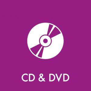 CD og DVD klistermærke til sortering af affald