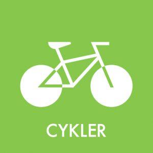 Cykler klistermærke til sortering af affald