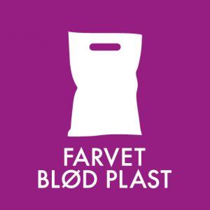 Farvet blød plast klistermærke til sortering af affald