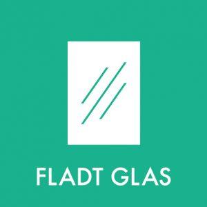 Fladt glas klistermærke til sortering af affald