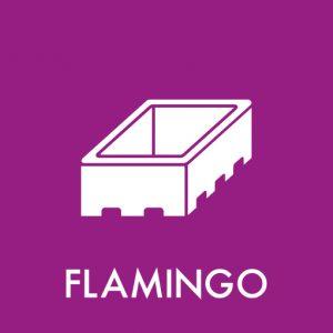 Flamingo klistermærke til sortering af affald