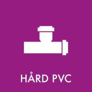 Hård PVC klistermærke til sortering af affald