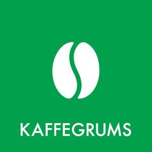 Kaffegrums klistermærke til affaldssortering
