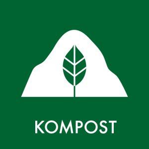 Kompost klistermærke til sortering af affald