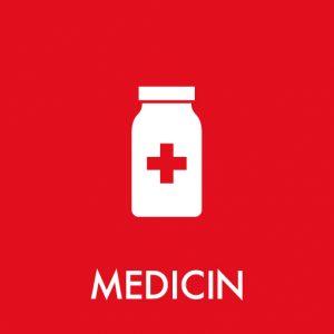 Medicin klistermærke til sortering af affald