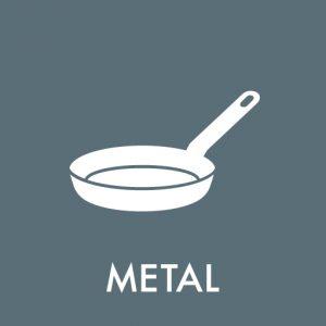 metal på genbrugspladsen klistermærke