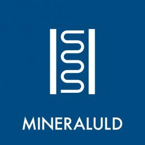 Mineraluld klistermærke til sortering af affald