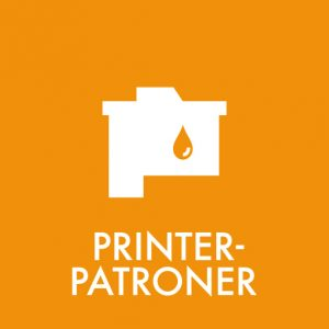 Printerpatroner klistermærke til sortering af affald