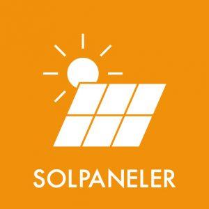 Solpaneler klistermærke til sortering af affald