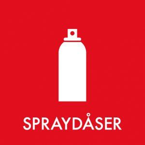 Spraydåser klistermærke til sortering af affald