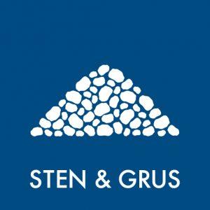 Sten og grus klistermærke til sortering af affald