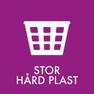 Stor hård plast klistermærke til sortering af affald