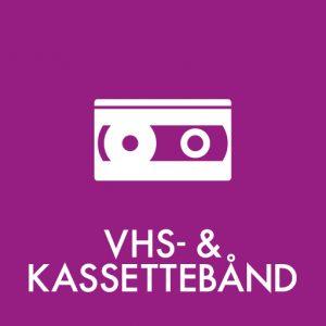 VHS- kassettebånd klistermærke til sortering af affald