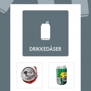 Affaldsskilt Drikkedåser