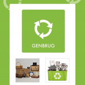 Affaldsskilt Genbrug
