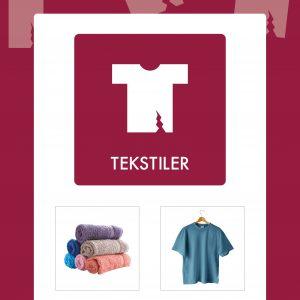 Affaldsskilt Tekstiler