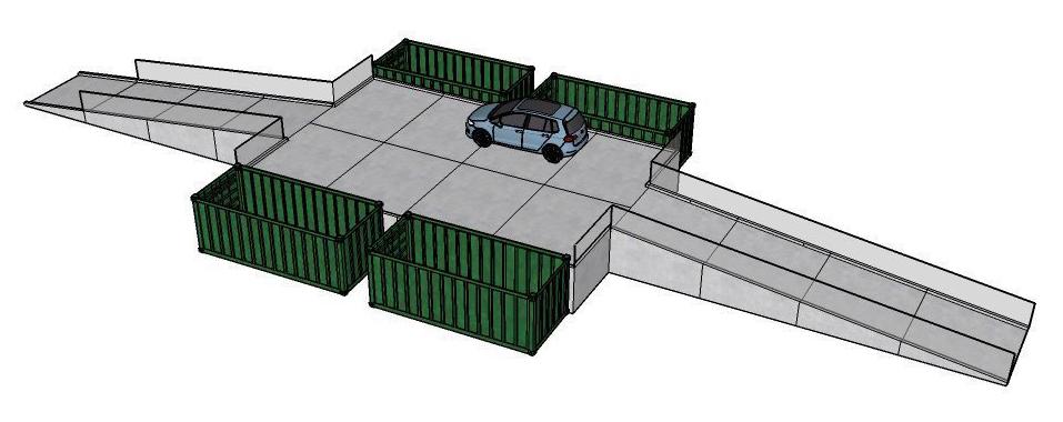 Modulær genbrugsplads 4 fraktioner