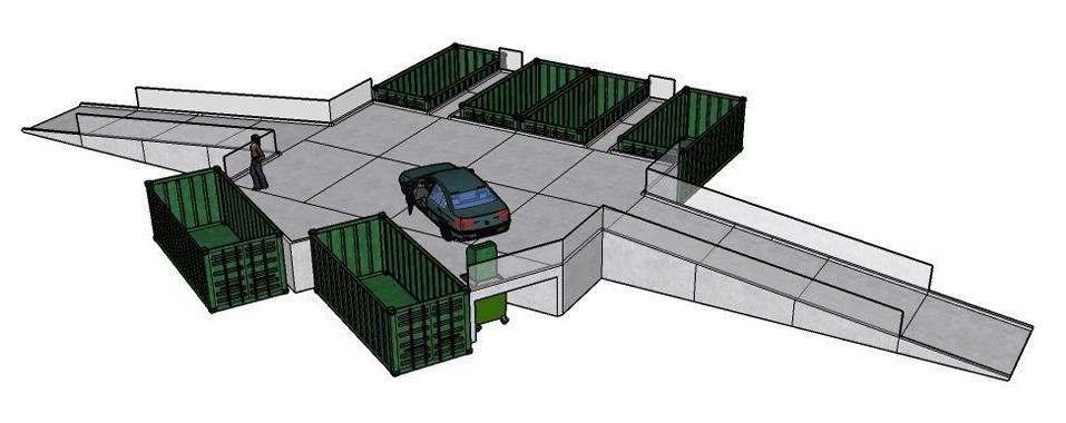 Modulær genbrugsplads 6 fraktioner